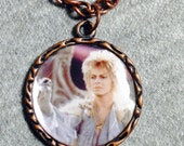 Labyrinth David Bowie Jareth Charm Necklace Goblin King