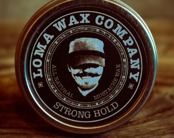 Mustache Wax - Strong Hold - FREE SHIPPING
