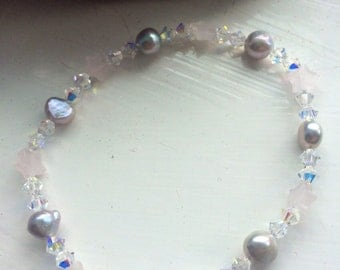 Spell cast and reiki charged beautiful handmade crystal bracelet