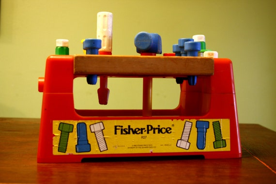 Fisher price workbench with tools 1980 Fisher price tool bench