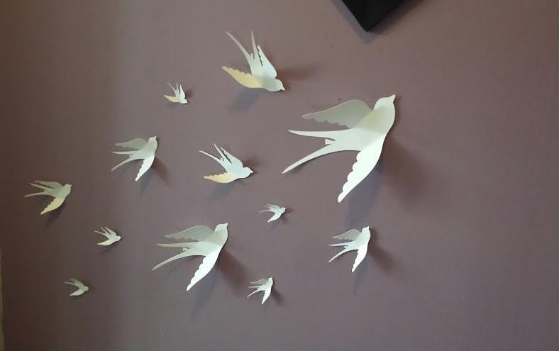 3d Wall Decor Birds : Paper wall d bird art