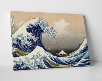 Great Wave off Kanagawa by Katsushika Hokusai. Gallery Wrapped Canvas Print
