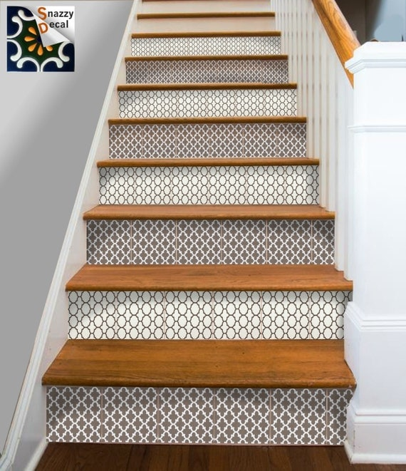 Kitchen bathroom wall stair riser tile decals vinyl sticker - Stickers contremarche escalier ...