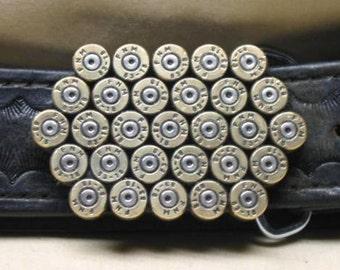 Men's Bullet Belt Buckle 223 Remington 5.56 Military Brass Straightline