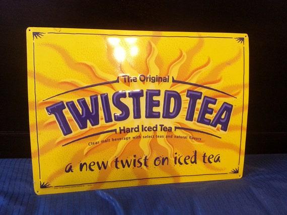 Twisted Tea Malt Beverage Tin Sign Advertising Beer Liquor