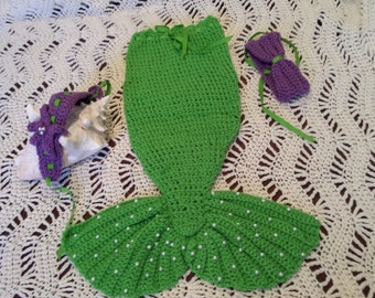 Halloween Mermaid tail costume  outfit.