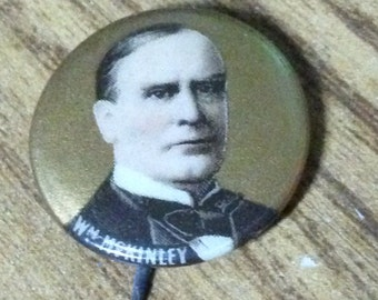 1900 William McKinley Campaign Button