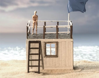 Beach House - Photography // fine art print // diorama art
