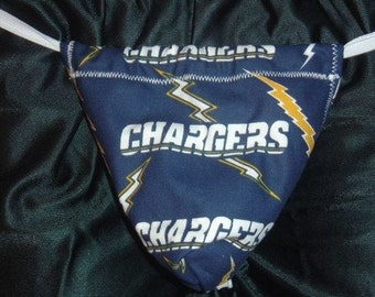 Mens SAN DIEGO CHARGERS G-String Thong Male Nfl Lingerie Football Underwear