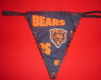 Womens CHICAGO BEARS G-String Thong Female Nfl Lingerie Football Underwear