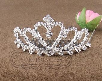 princess tiara flower girl tiara baby tiara  cute tiara cute headpiece baby headband