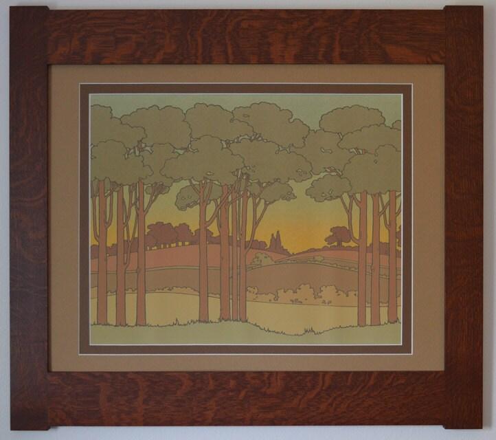 Idylwild Mission Style Art In Quartersawn Oak Frame