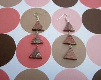 Triple Triangle Earrings