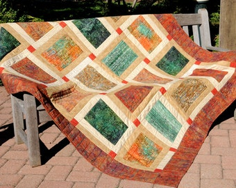 Shades of Autumn Bed Quilt