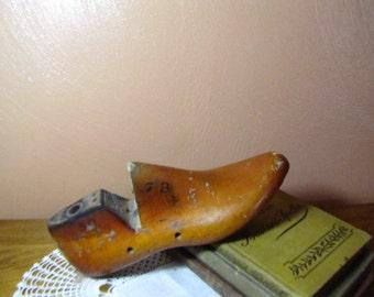 Vintage Wooden Factory Shoe Last