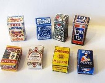 set of vintage  grocery boxes