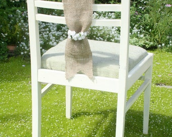 SET OF 15 Burlap Chair Sashes
