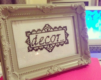 Decor: beauty, grace cross stitch