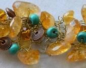 Wire Crochet Beaded Bracelet