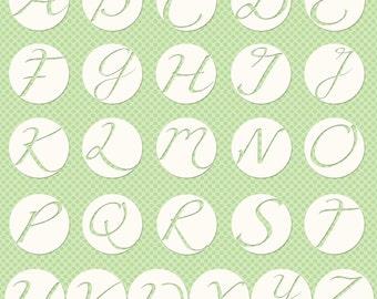 Monogram Letter Stickers for Digital Designs