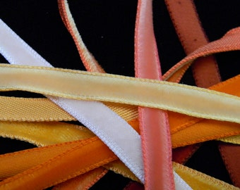 "Vintage 1/4"" Velvet Ribbons, sold by the yard"