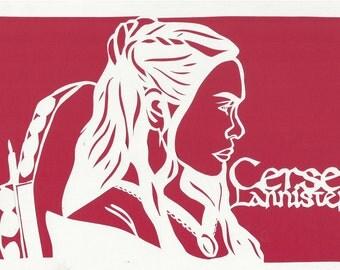 Cersei Lannister Paper-cut