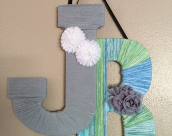 Yarn Wrapped Letters (Large 2 letters)