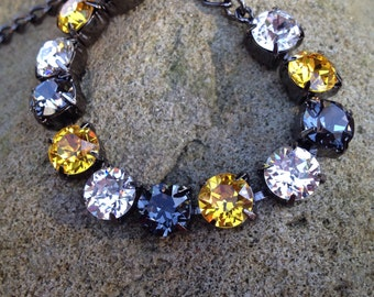 Black and gold swarovski bracelet