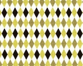 Michael Miller Mini Mike Argyle in Citron and Dark Grey - Listing is for 1.5 yards