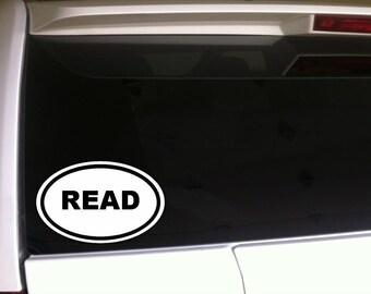 "Reading Car Decal Vinyl Sticker 6"""