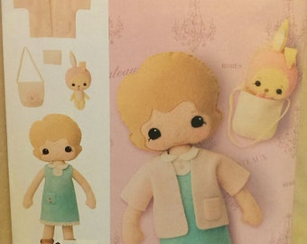Gingermelon Felt Doll and Accessories Pattern
