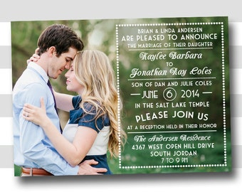 lds wedding invitation  etsy, invitation samples