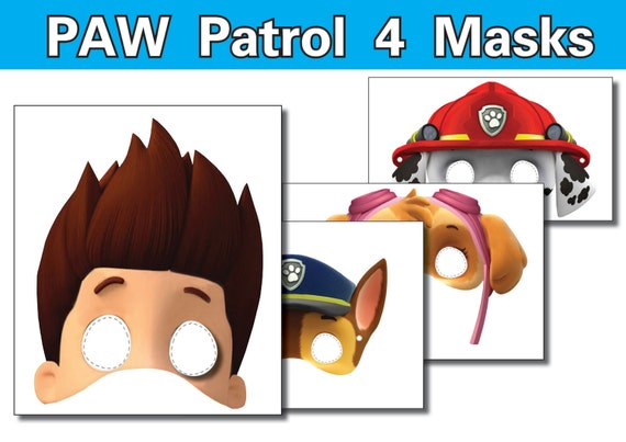 Fan image throughout paw patrol printable masks