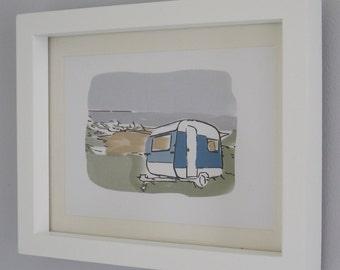 Holidays and Lazy Days Caravan illustration print