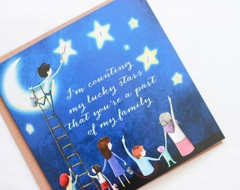 I'm Counting My Lucky Stars Greeting Card
