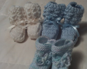 High top booties, in assorted knitted colors