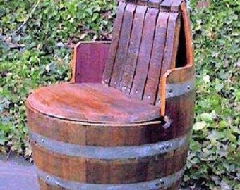 Wine Barrel chair with arm and back rest, WBC-35