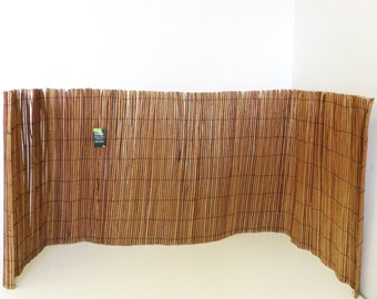 Peeled Willow Fence Screen, 4'H x 8'L, Light Mahogany Color, CWF-48