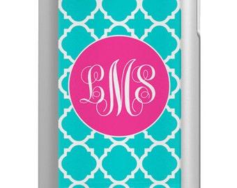 iPhone 6 5/5s Phone Case Mophie Juice Pack Air Helium  - Lattice Trellis Geometric - Monogrammed iPhone 6 Case Custom Phone Case
