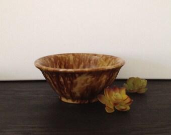 "Vintage Spongeware Bowl with Brown Drip Glaze 71/2"" dia. x 3 1/4"" high"