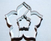 Cookie cutter Lily flower with middle lily A 32, blossom, bloom, mold made of stainless steel