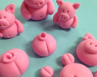 Fondant Pigs