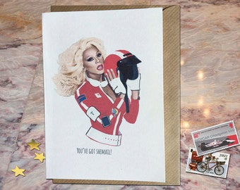 RuPaul, You've Got Shemail! - A6 Greetings Card