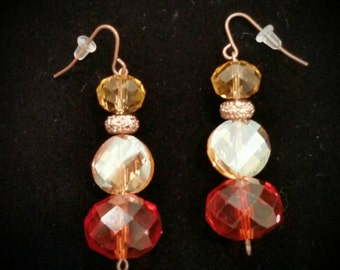 Sparkly fall earrings!!