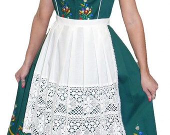 3-Piece Long Green German Dirndl Dress 2 6 10 14 16 18 20 24 S M L XL 2XL