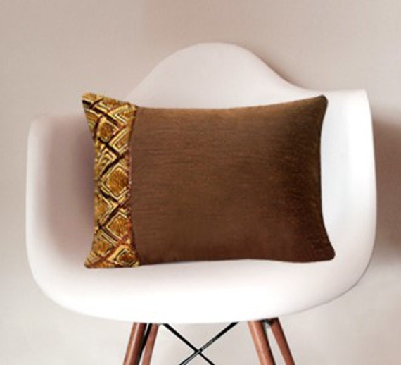 Modern Glam Pillows : Kuba Glam Modern Lumbar Pillow by MAIDDesign on Etsy