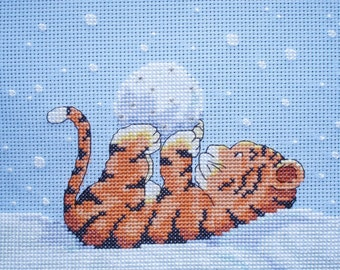 KL54 Toto in the Snow Tiger Counted Cross Stitch Kit