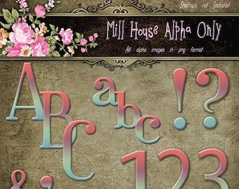 The Mill House Alphabet Digital Alphabet Scrapbooking Alphabet