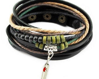 axy wrap bracelet TWIC13-3! Leather Bracelet