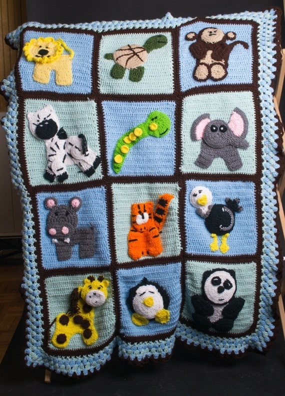 Baby Zoo Afghan Crochet Pattern : Zoo baby crochet afghan will customize to you by ...
